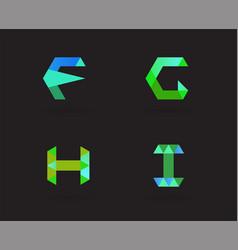 102 logo abc tri vector image