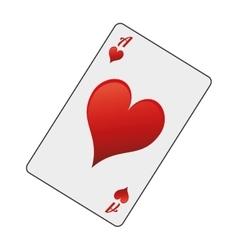 Hearts card icon vector