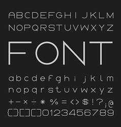 Thin font desgin alphabet and numbers vector