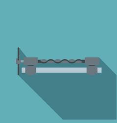 blacksmiths clamp icon flat style vector image