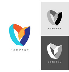 Logo design element heart or flower symbol vector