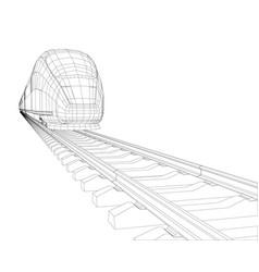 Abstract polygonal high-speed passenger train vector