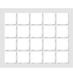 20 pieces square blank sheet of white paper with vector