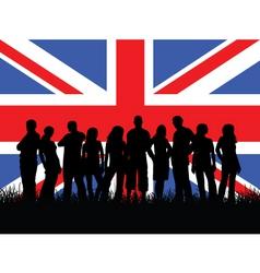 British youth vector image