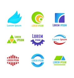 Business icons templates vector