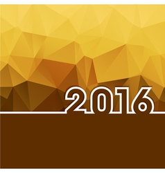 2016 new year on golden polygonal background vector