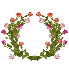 Wreath of roses isolated eps 10 vector