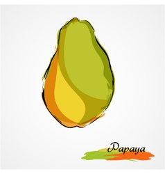 Papaya whole vector
