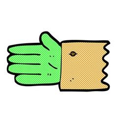 comic cartoon zombie hand symbol vector image