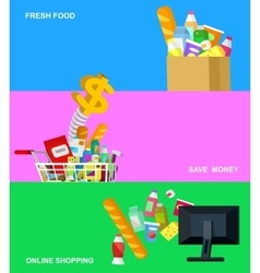 Shop supermarket flat vector