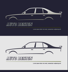 Abstract car design concept automotive topics vector