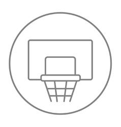 Basketball hoop line icon vector image