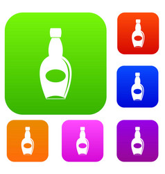 big bottle set color collection vector image vector image