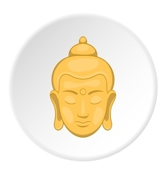 Buddha statue icon cartoon style vector