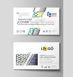 Business card templates abstract template vector