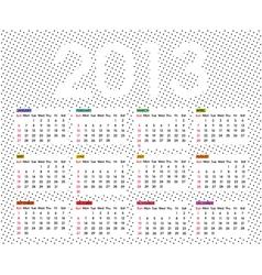 calendar 2013 6 vector image