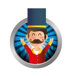 Circus ceremony master icon vector image