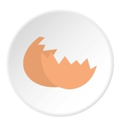 Eggshell icon flat style vector image