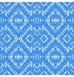 Ethnic blue seamless pattern vector image vector image
