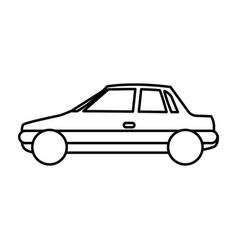 Figure side car transport vector