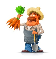 Gardener with carrot and vector image vector image