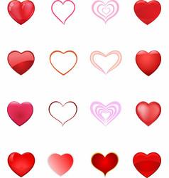 Hearth set vector