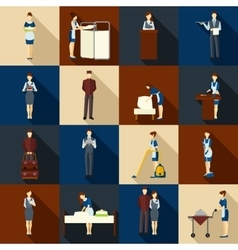 Hotel Staff Set vector image