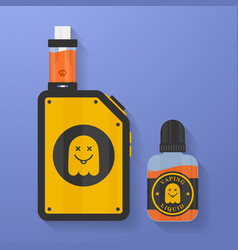 Icon of vape device with ghost silhouette vector