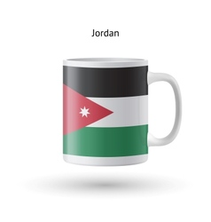 Jordan flag souvenir mug on white background vector
