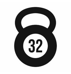 Kettlebell 32 kg icon simple style vector