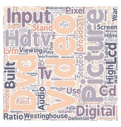 Lcd hdtv 1 text background wordcloud concept vector