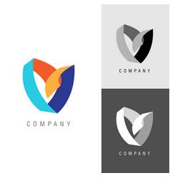 logo design element heart or flower symbol vector image vector image