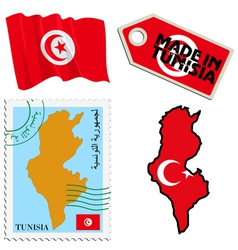 national colours of Tunisia vector image vector image