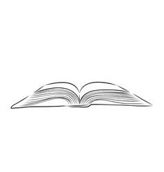 Open book hand draw vector