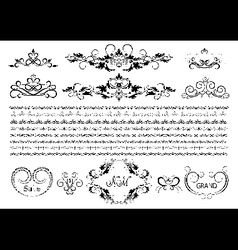Original borders and details for design vector image