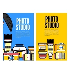 Photography banner set with photo elements vector image vector image