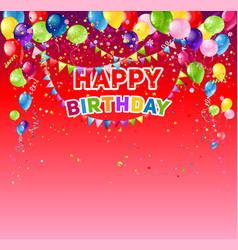 Red birthday card vector