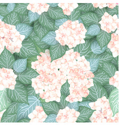 Seamless hydrangea flower pattern vector
