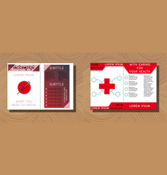 Set of medical brochure cover template flyer vector
