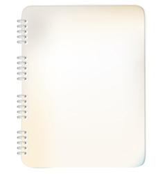 Spiral bound notepad vector