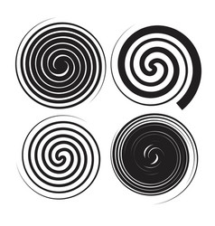 Spiral speed and swirl set vector