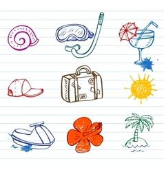 Summer doodles vector