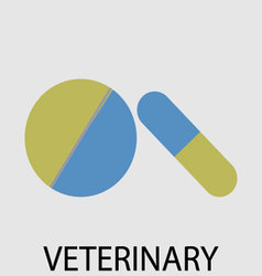 Tablets pills veterinary vector image