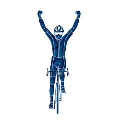 The winner bicycle riding vector