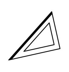 Triangle ruler geometry school utensil vector