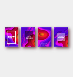 Violet red paper cut wave shapes layered curve vector