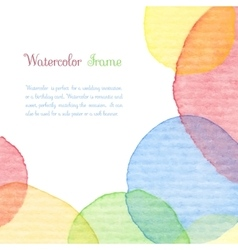Watercolor frame vector image vector image