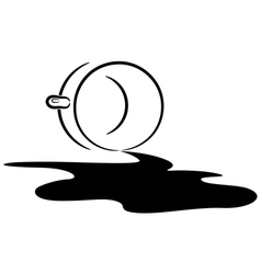 Spilled coffee eps10 vector