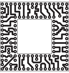 Monochrome electronic board vector