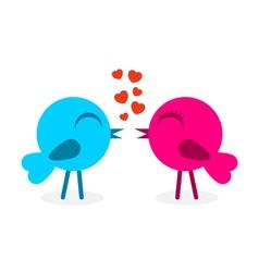 2 falling in love birds vector image